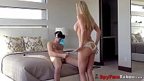 Hot Stepmom Brandi Love Catches Son Jacking Off...