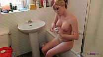 Jodie Ellen - Get Moisturized - 1min preview horny blonde rubs oil into her bigt