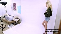 Blonde Model fucked at photoshoot casting audition