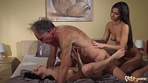 Old Young Porn Teens share old man and ride his... Thumbnail