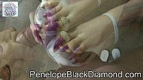 Penelope Black Diamond - Footjob sperm on my toes claws Preview preview image