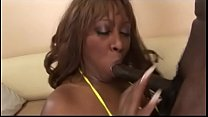Goergeous Negress Tasha Knight loves only black cocks and takes inside one of them thumbnail
