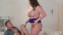 Harmony reigns unleashes her big tits & rides a stiff cock » lucky b porn thumbnail
