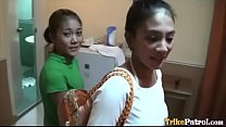 Thick-assed Filipina babe offers up pussy to horny tourist