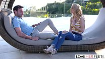 LoveHerFeet - Gorgeous Blonde With Perfect Pretty Feet Loves To Cheat thumbnail