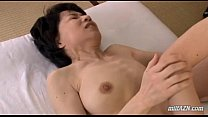 Mature Woman With Hairy Pussy Fingered And Licked By Young Guy On The Mattress preview image