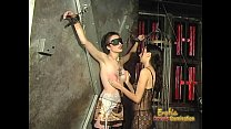 19017 Foxy tattooed bimbo likes being spanked really hard by her dominatrix preview