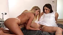 Big Booty Lesbian Friends August Ames and Abella Danger thumbnail