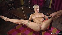 Curved blonde wife submitting to husband