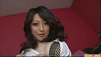 Brunette Asian girl Asuka Mimi fondled and fuck...