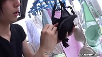 Sniffing her bra then fucking her with a sloppy creampie - 9Club.Top