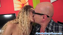 Spex teen loves getting fucked by grandpa image