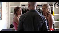 Twin Sisters Take Turns And Blow Brother- April Aniston & Vienna Rose