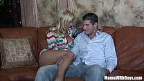 Horny Blonde Mom Holly Halston Fucks A Young Stud's Thumb