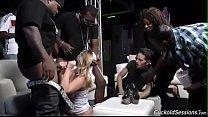 Brooke Wylde gets gangbanged in a club Image