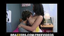 Busty brunette college RA Melina Mason rides hard cock pornhub video