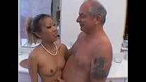 Horny Asian Slut Sucks This Old Dude's Cock