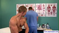 cocksucking ripped jock ass fucked by doctor