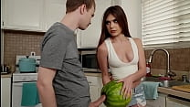 My Stepsister Catches Me Fucking A Watermelon A