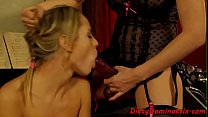 Sub babes fucked by dominatrix mistress