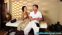 Pretty babe fucked by masseur in missionary thumbnail