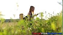 Hiking dutch teen jizzed [네덜란드 Dutch]