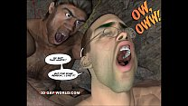 CRETACEOUS COCK 3D Gay Comic Story about Young Scientist Fucked by Hunky Primeva