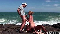 Exotic threesome on the edge of a cliff Preview