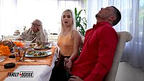 Big Tittie Russian Aunt Casca and Aria Banks Family Fucksgiving - Family Boxxx