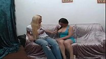 Blonde tall tranny pounds busty girl - myfuckingwebcam.com