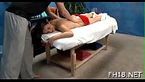 Gogeous legal age teenager gets screwed hard by her massage therapist preview image