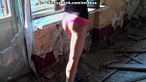 young brunette fuck in an abandoned building