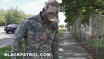 BLACKPATROL - Fake Soldier Gets Used as a Fuck Toy by Police (xb15756) thumbnail