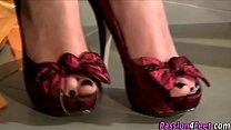 Fetish babe puts heels on's Thumb