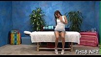 Cute office teen drilled hard by her massagist Thumbnail