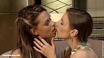 Loveseat Lusts by Sapphic Erotica - lesbian love porn with Morgan - Frida
