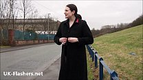 Fat amateur exhibitionist Alyss public nude and...