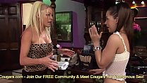Cougars Cindy Behr And Kaia Kane Have A Threesome At The Bar