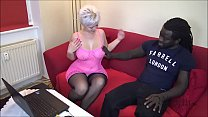 Black Boy wigh MONSTER COCK Fucks German Houswife thumbnail
