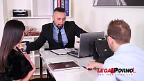 Business Seduced by Horny Milf Alyssia Kent For Hardcore DP Threesome GP063 thumbnail