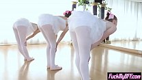 New spying instructor fucks ballerina teens in foursome thumbnail
