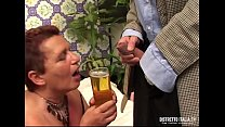 Old drunking bitch gets fucked