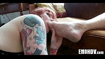 Babe with tattoos gets dick 355 Thumbnail