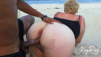 Blonde Sucks & Fucks BBC On Public Beach (@xKin