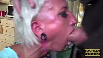 Submissive British bimbos mouth and pussy rough...