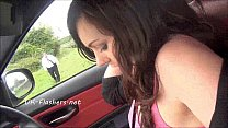 Kacies public masturbation on car seat with nude amateur exhibitionist babe flas Preview