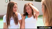 (Dani Daniels & Malena Morgan & Lia Lor) Teen Hot Lesbians Girls Play In front Of Cam vid-15