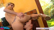 Sexy lesbians Jana Jordan and Karlie Montana toying twats thumbnail