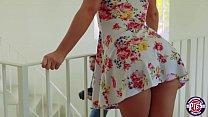 Bailey gets her boyfriend to jizzed inside her tight crack