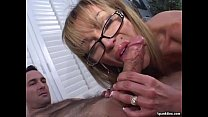 Mature gives a blowjob and smokes a cigarette preview image